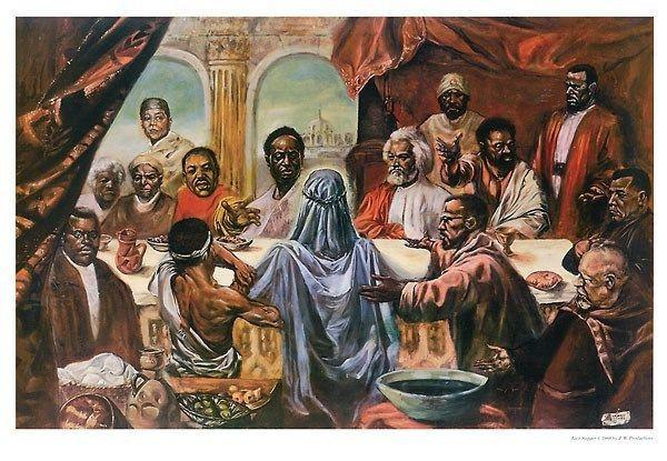 The Last Supper Great African Americans By Cornell Barnes Art