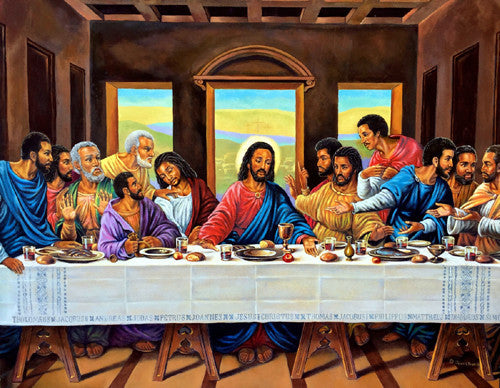 The Last Supper African American By Jean Francois 24x36 Inches