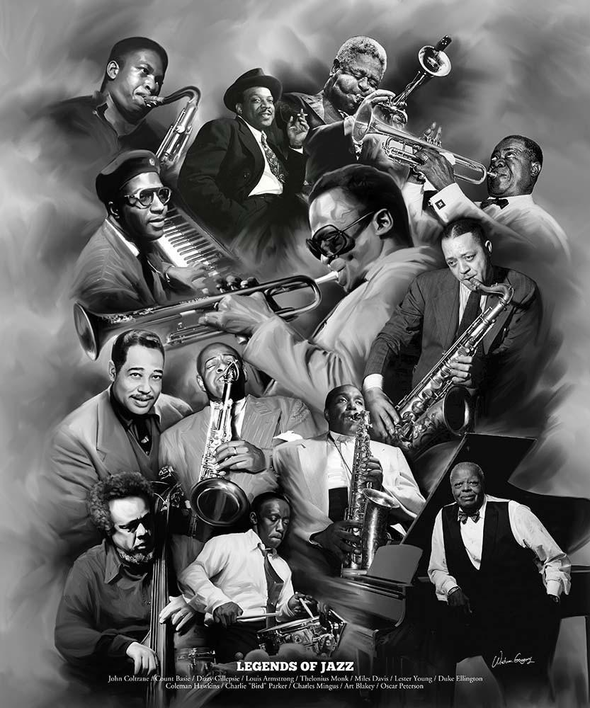 Legends of Jazz by Wishum Gregory