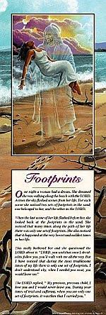Footprints in the Sand (Female) by Lester Kern: Statement Edition
