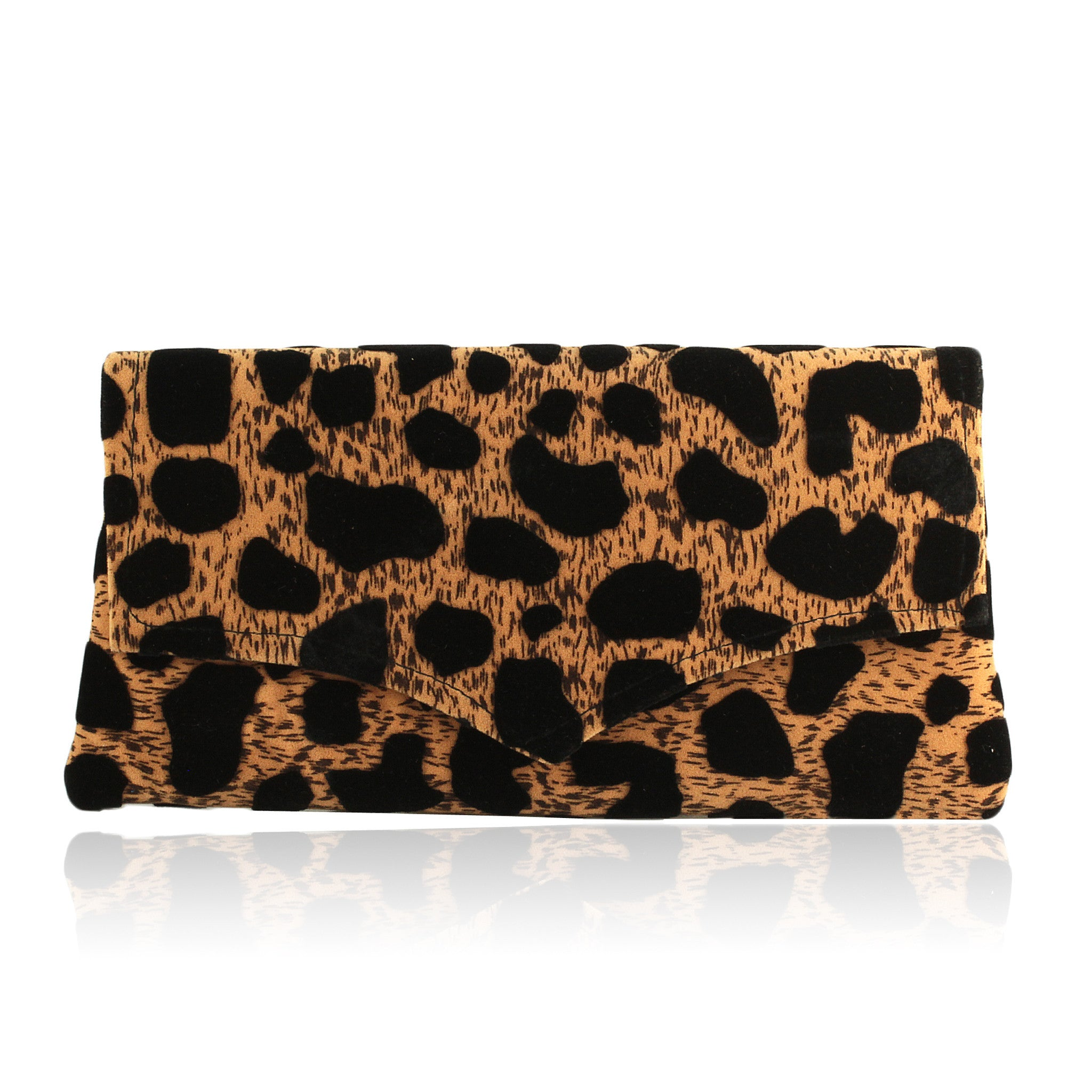 Hand Made Kenyan Leopard Envelope Clutch