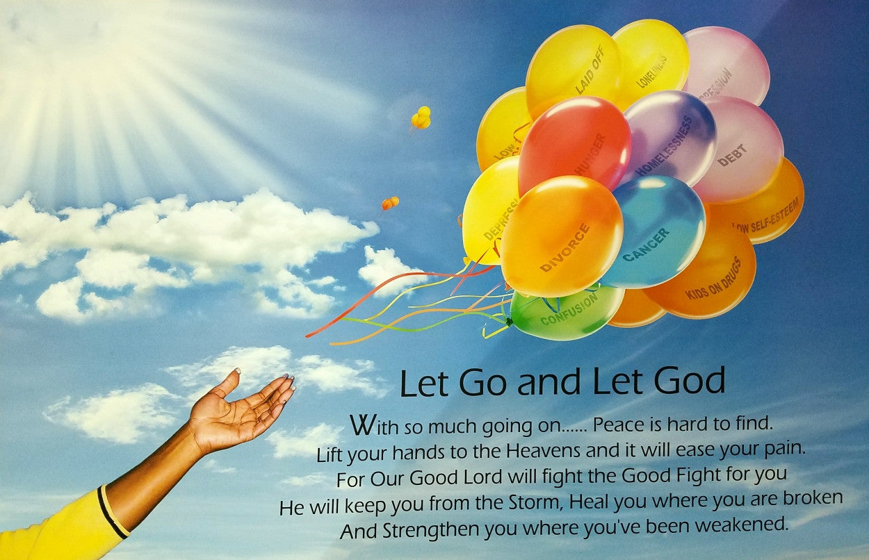 Let Go Let God African American Motivatinalinspirational Art