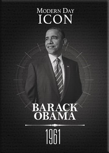 Barack Obama (Modern Day Icon): Black History Magnet by Shades of Color