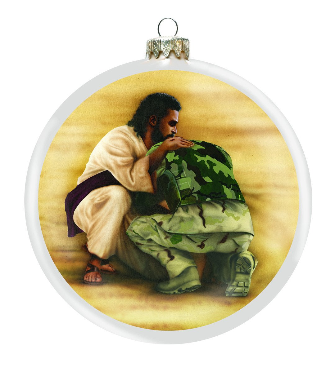 A Shield for Me Christmas Ornament by Ronny Myles
