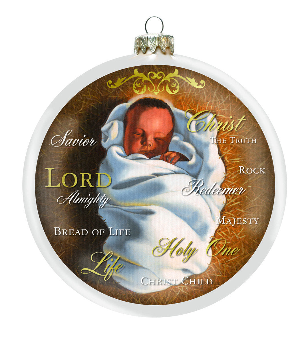 African American Baby Jesus Christmas Ornament | The Black Art Depot
