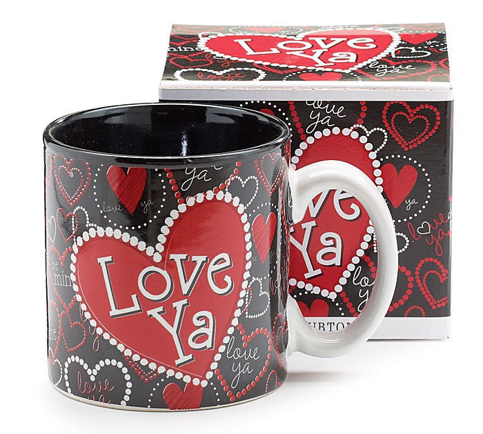 Love Ya Heart Ceramic Mug by Burton and Burton