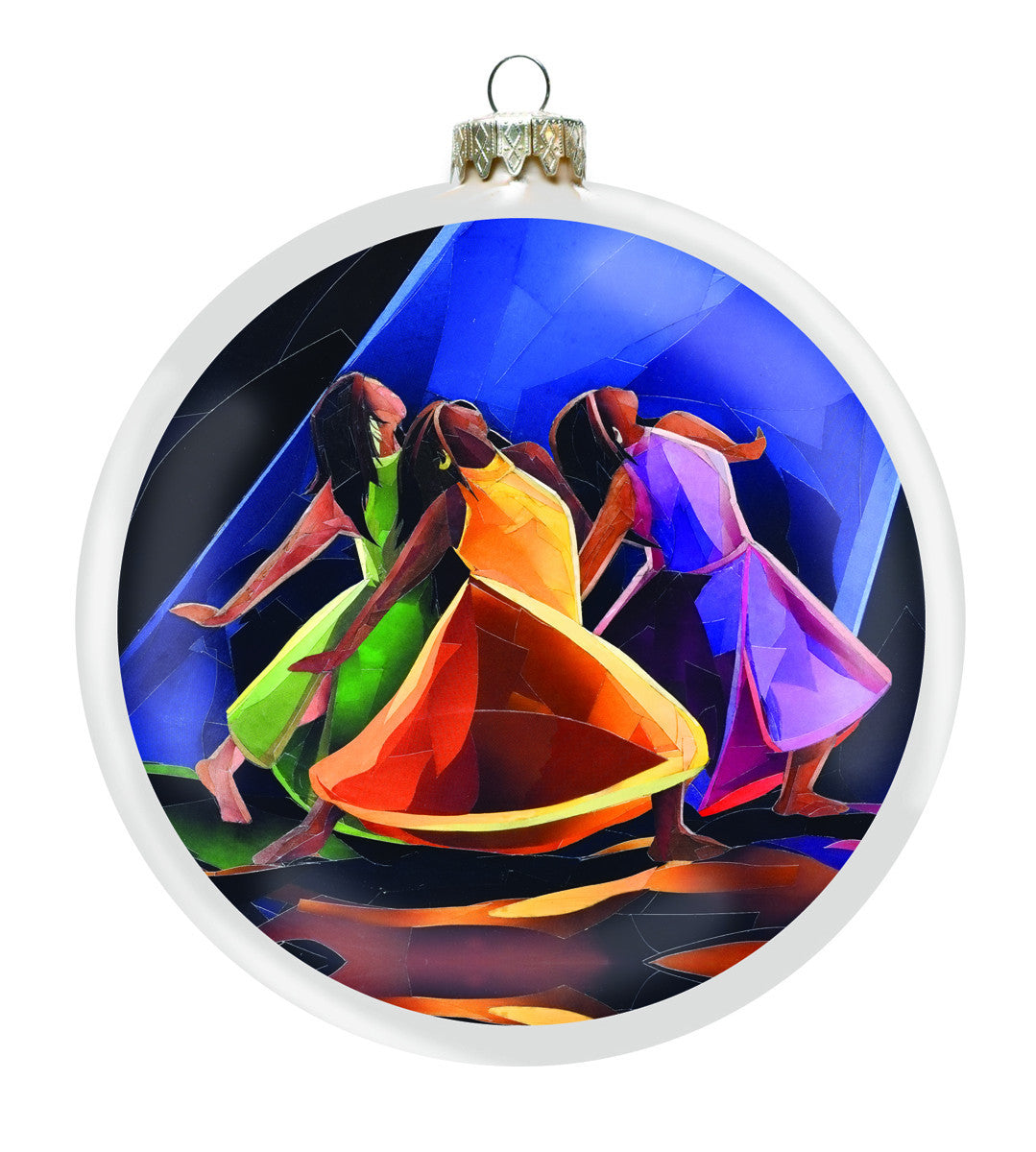 Praises Go Up: African-American Christmas Ornament by Carl M. Crawford (Front)