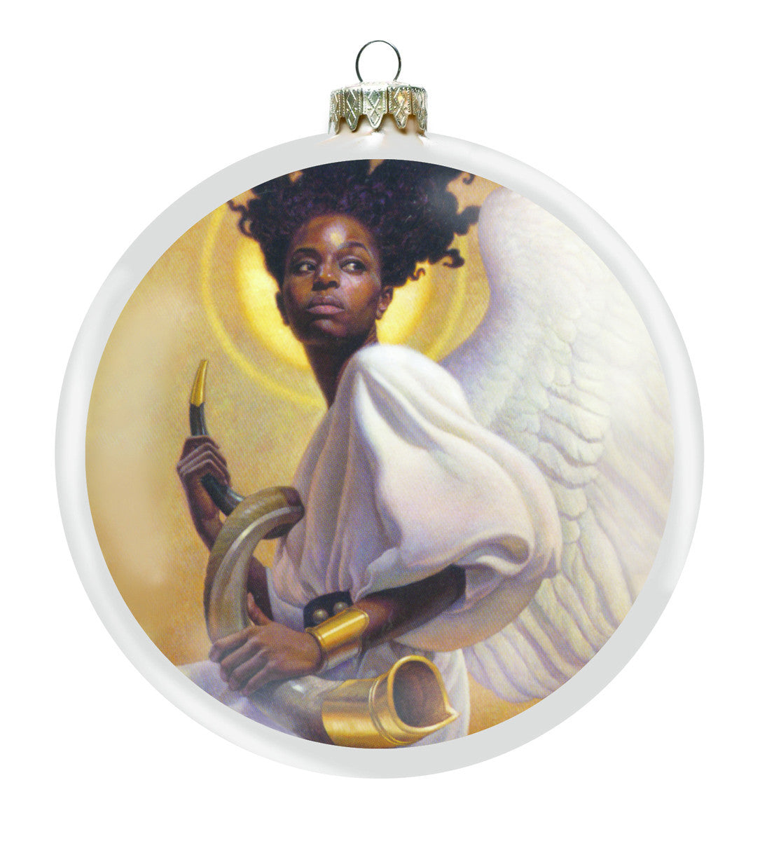Preparing to Sound the Alarm Christmas Ornament by Thomas Blackshear (Front)