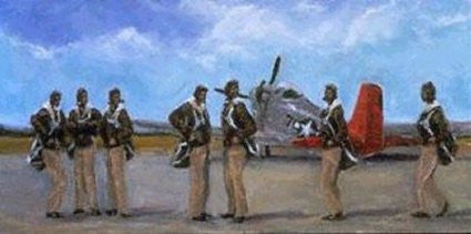 Lonely Angels (Tuskegee Airmen) by Ted Ellis