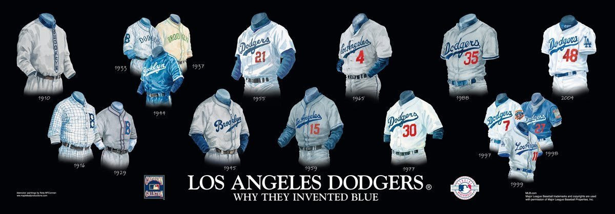 Los Angeles Dodgers: Why They Invented Blue Poster by Nola McConnan