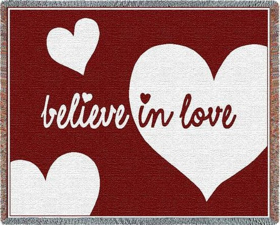Believe In Love Tapestry Throw