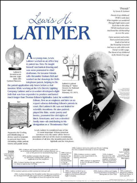 Lewis H. Latimer Timeline Poster by Techdirections