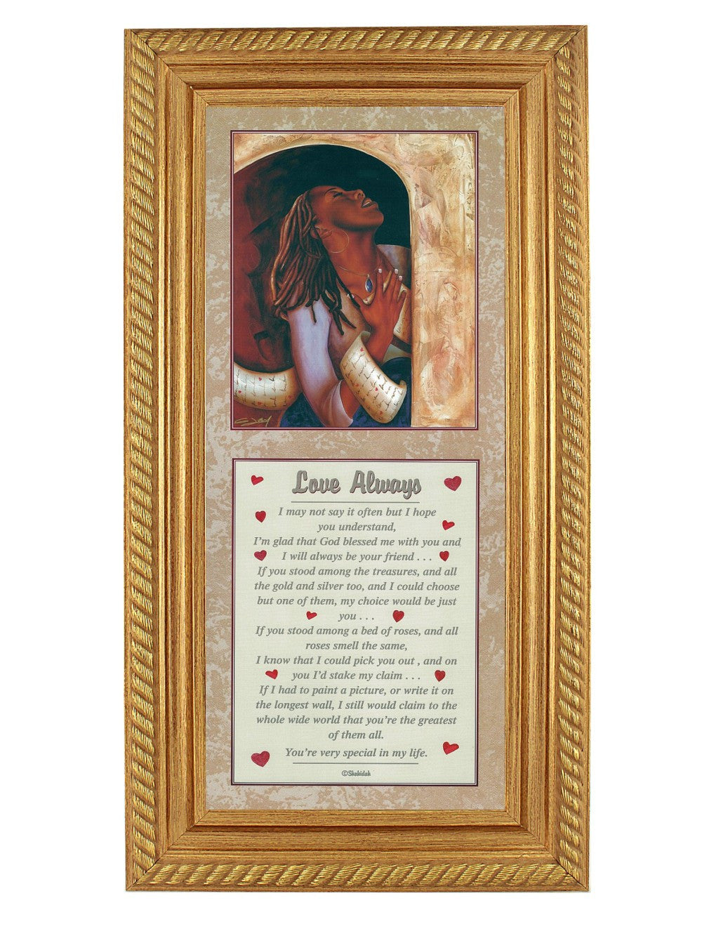 Love Always by Gerald Ivey and Shahidah (Gold Rope Frame)