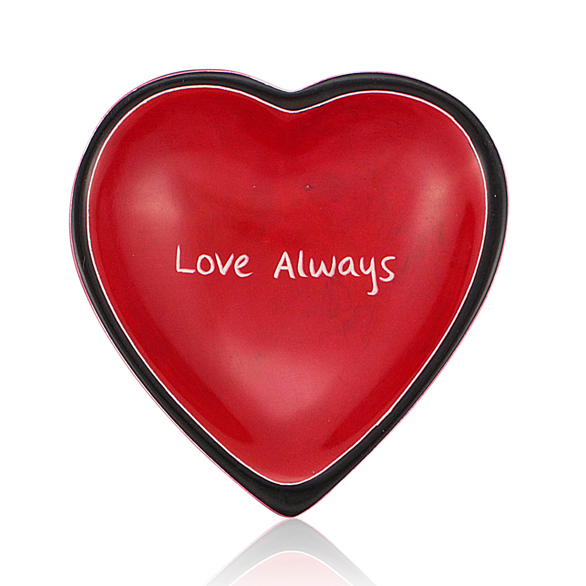 Love Always Heart Shaped Kenyan Soapstone Dish by Venture Imports