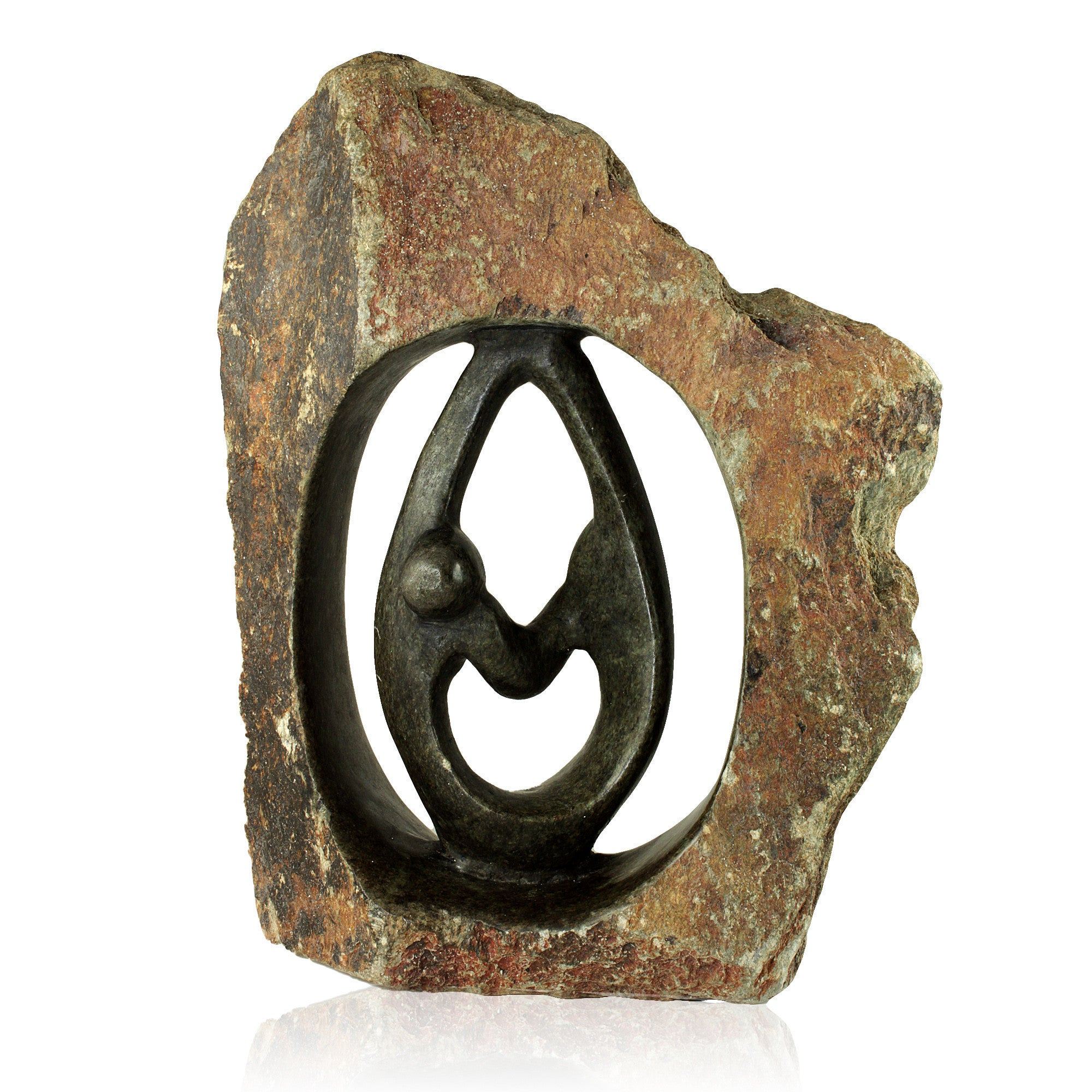 Lovers Embrace Stone Ring