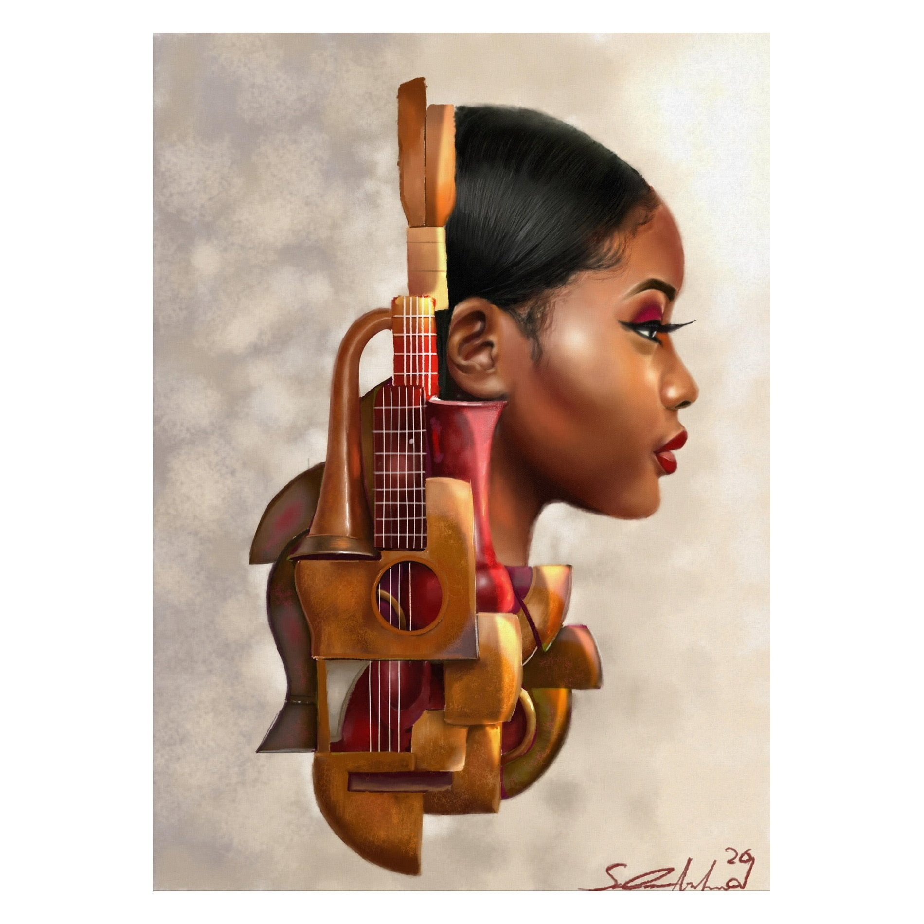 Mahogany Strings by Salaam Muhammad