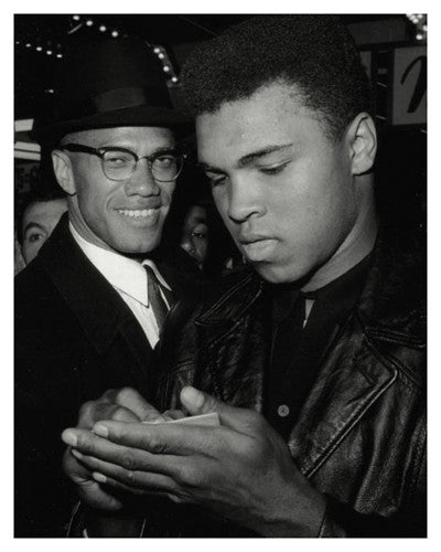 Malcolm X and Muhammad Ali (Photographic Art Print)