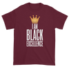 I Am Black Excellence Men's Short Sleeved T-Shirt (Maroon)