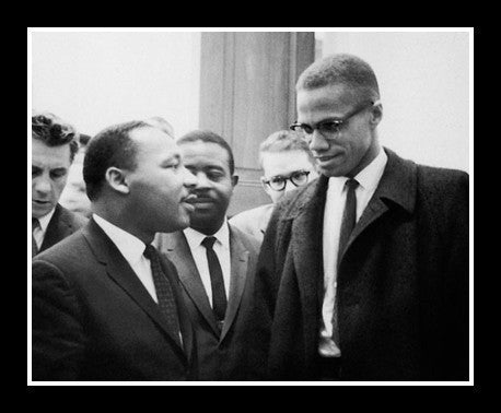 Dr. Martin Luther King and Malcolm X (March 26, 1964) by McMahan Archive