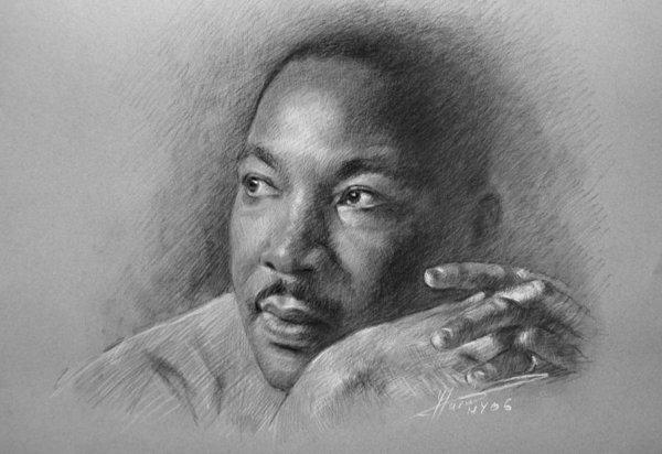 Rev. Dr. Martin Luther King Jr. by Ylli Haruni