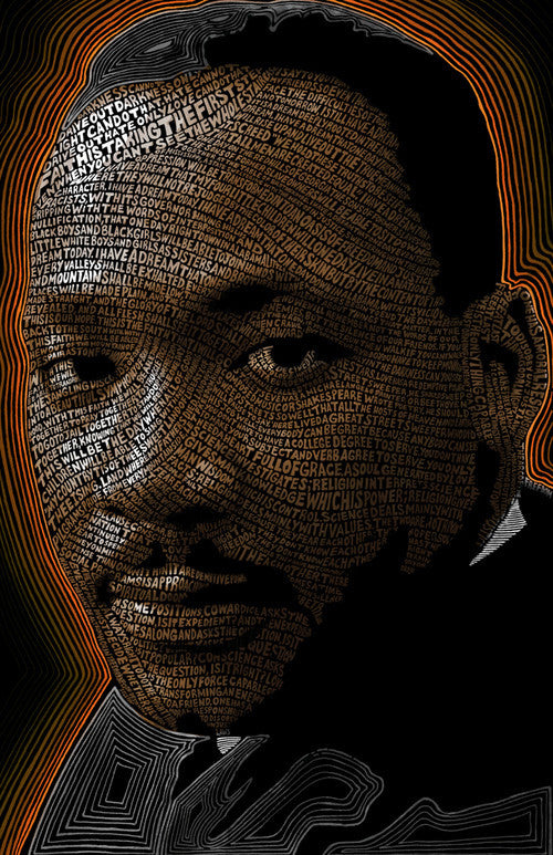 Rev. Dr. Martin Luther King, Jr. Word Art by Hans Fleurimont