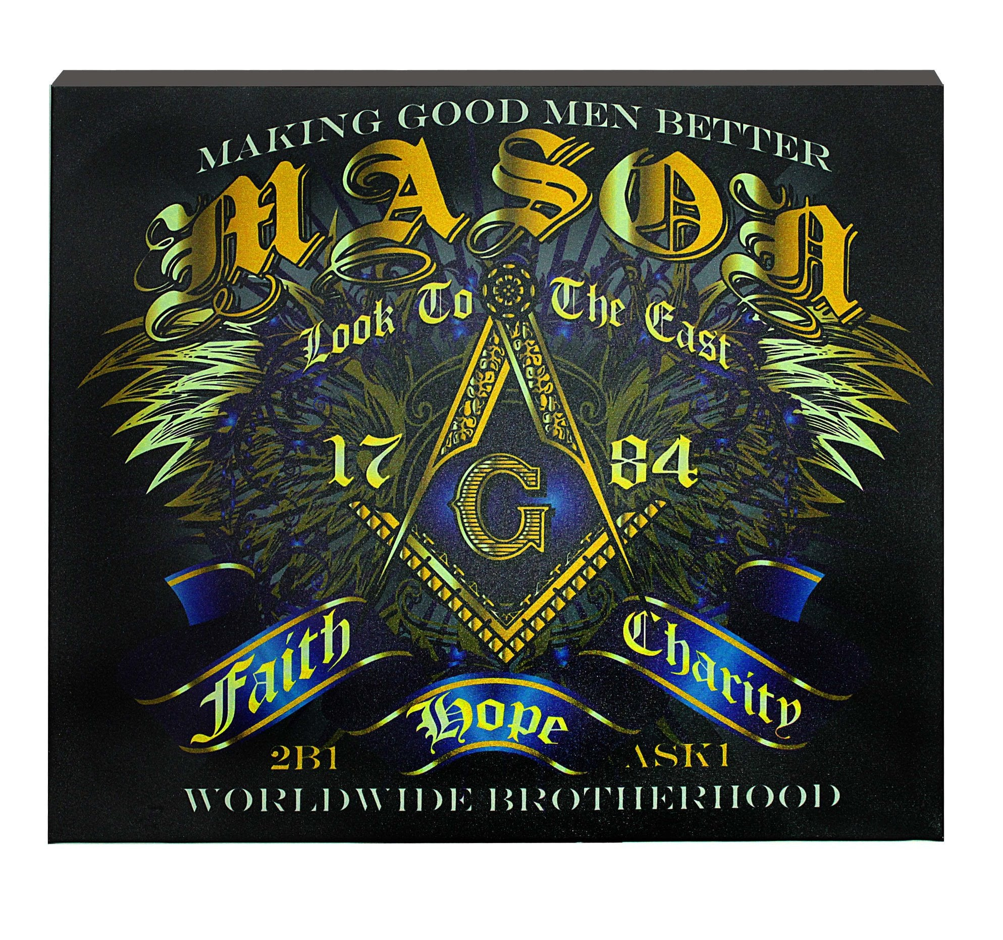 Prince Hall Masonic Canvas Wall Hanging