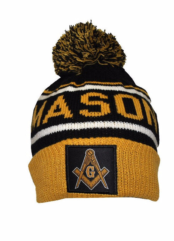 Mason 357 (Freemasonry) Beanie by Big Boy Headgear (Front)