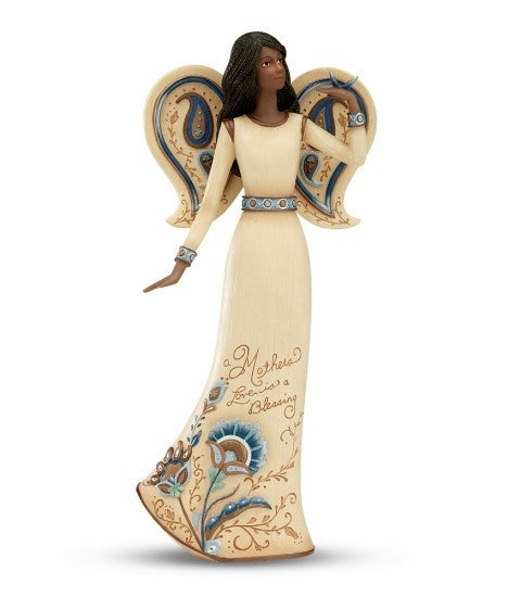 African American Mother Angel Figurine With Butterfly: Perfect Paisley Collection by Pavilion Gifts