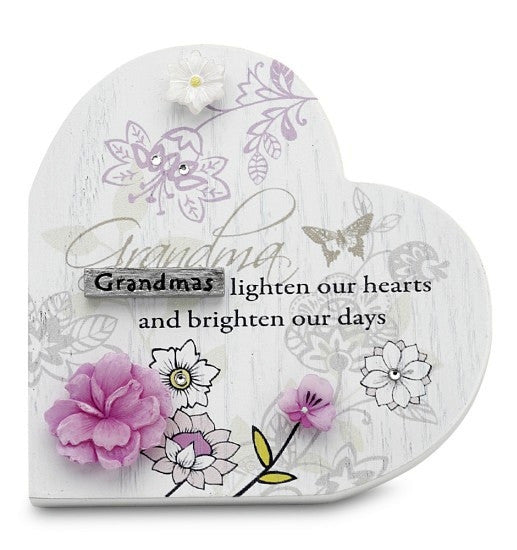 Grandma Heart Plaque: Mark My Words Collection by Pavilion Gifts
