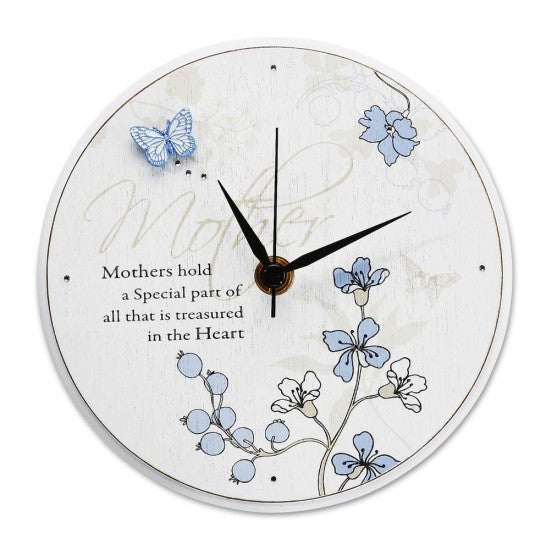 Mother Round Clock: Mark My Words Collection by Pavilion Gifts