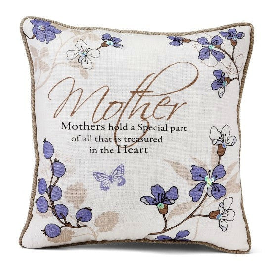 Mother Throw Pillow: Mark My Words Collection by Pavilion Gifts