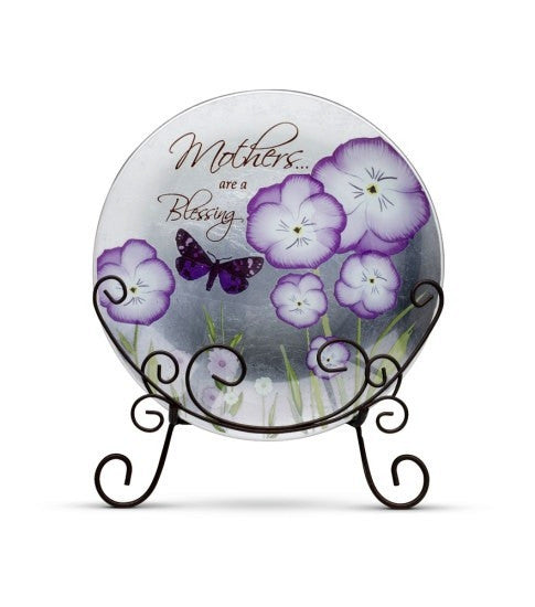 Mothers are a Blessing Plate with Stand: Bonita Collection by Pavilion Gifts