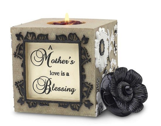A Mother's Love Tea Light Holder: Modeles Collection by Pavilion Gifts