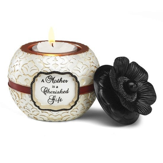 A Mother is a Cherished Gift Candleholder: Modeles Collection by Pavilion Gifts