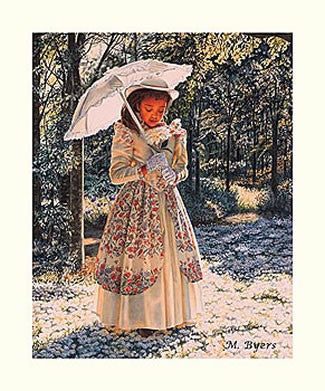 Girl With Parasol by Melinda Byers
