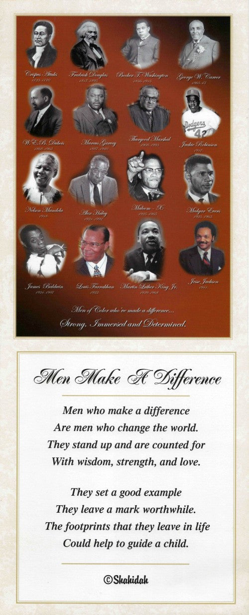 Men Make a Difference by Shahidah