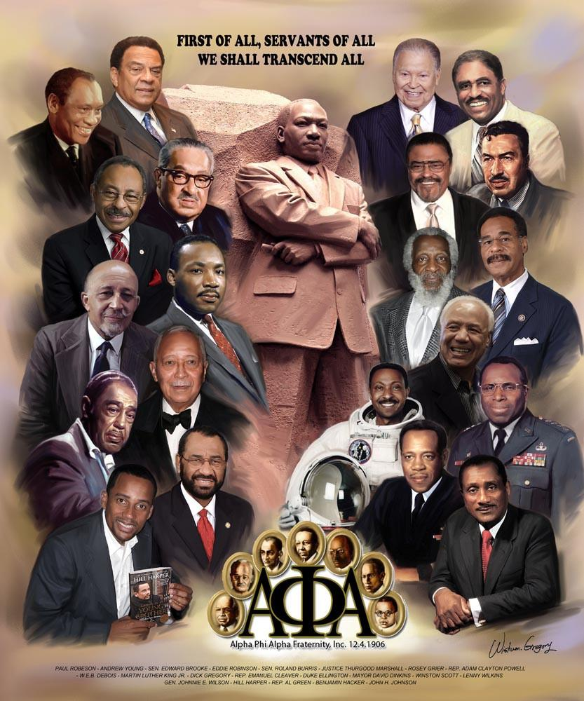 Men of Distinction (Alpha Phi Alpha) by Wishum Gregory