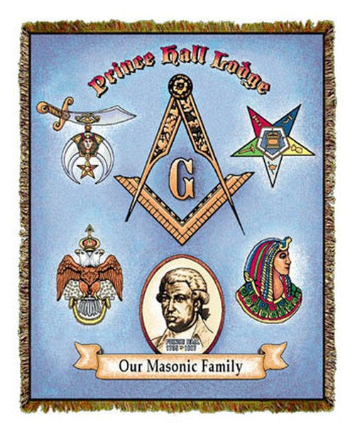 Prince Hall: Our Masonic Family Tapestry Throw