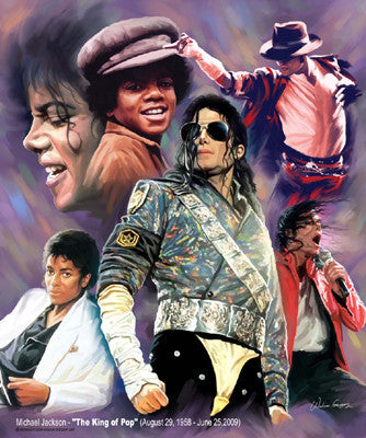 King of Pop: Michael Jackson Art Print by Wishum Gregory
