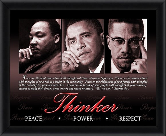 Thinker (Martin Luther King, Malcolm X, Barack Obama) by Micheal Eaton