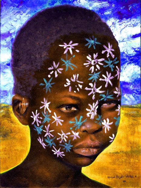 Painted Faces - Stars by Micheal Wallace