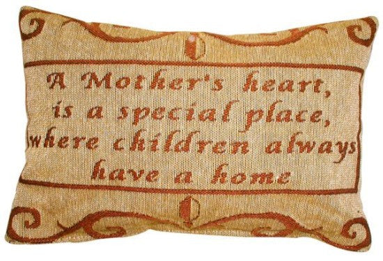 A Mother's Heart Tapestry Pillow