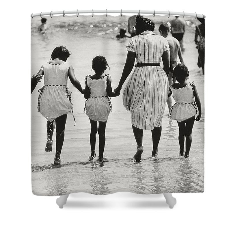 Mother and Three Daughters Shower Curtain by Nat Hertz