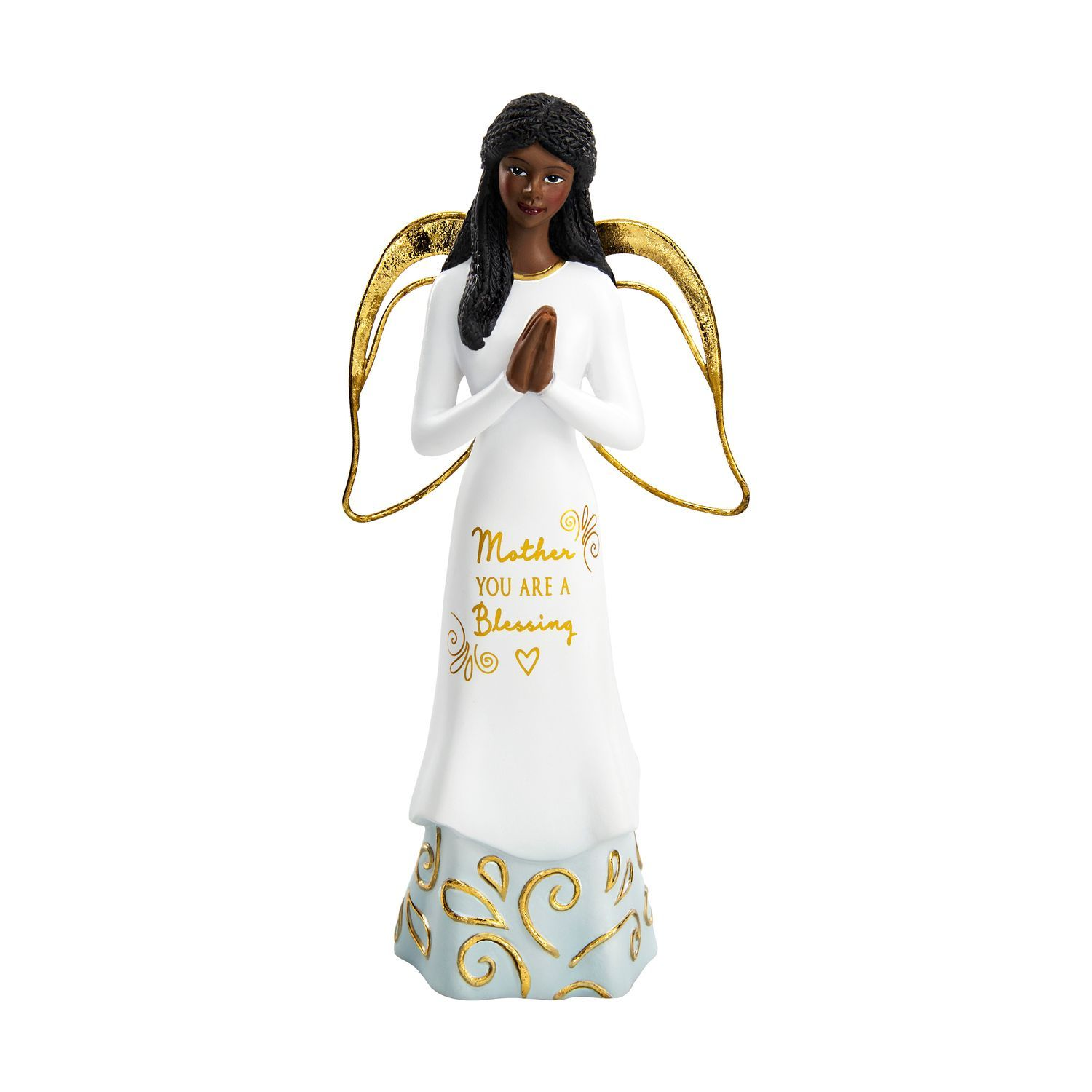 Mother, You Are a Blessing by Amylee Weeks: African American Angel Figurine (Front)