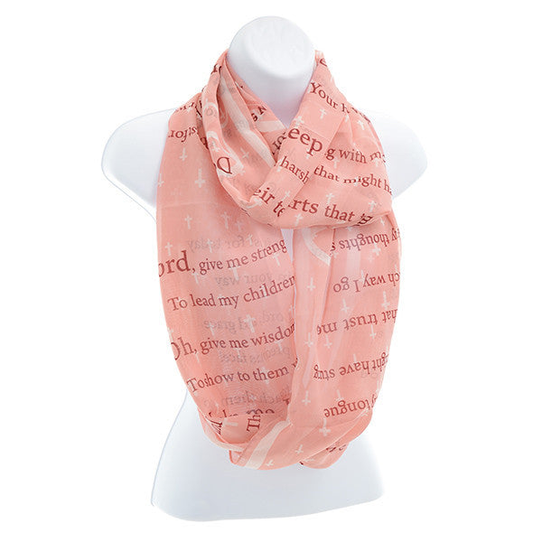 Mother's Prayer Infinity Scarf (Pink) by Judson and Company
