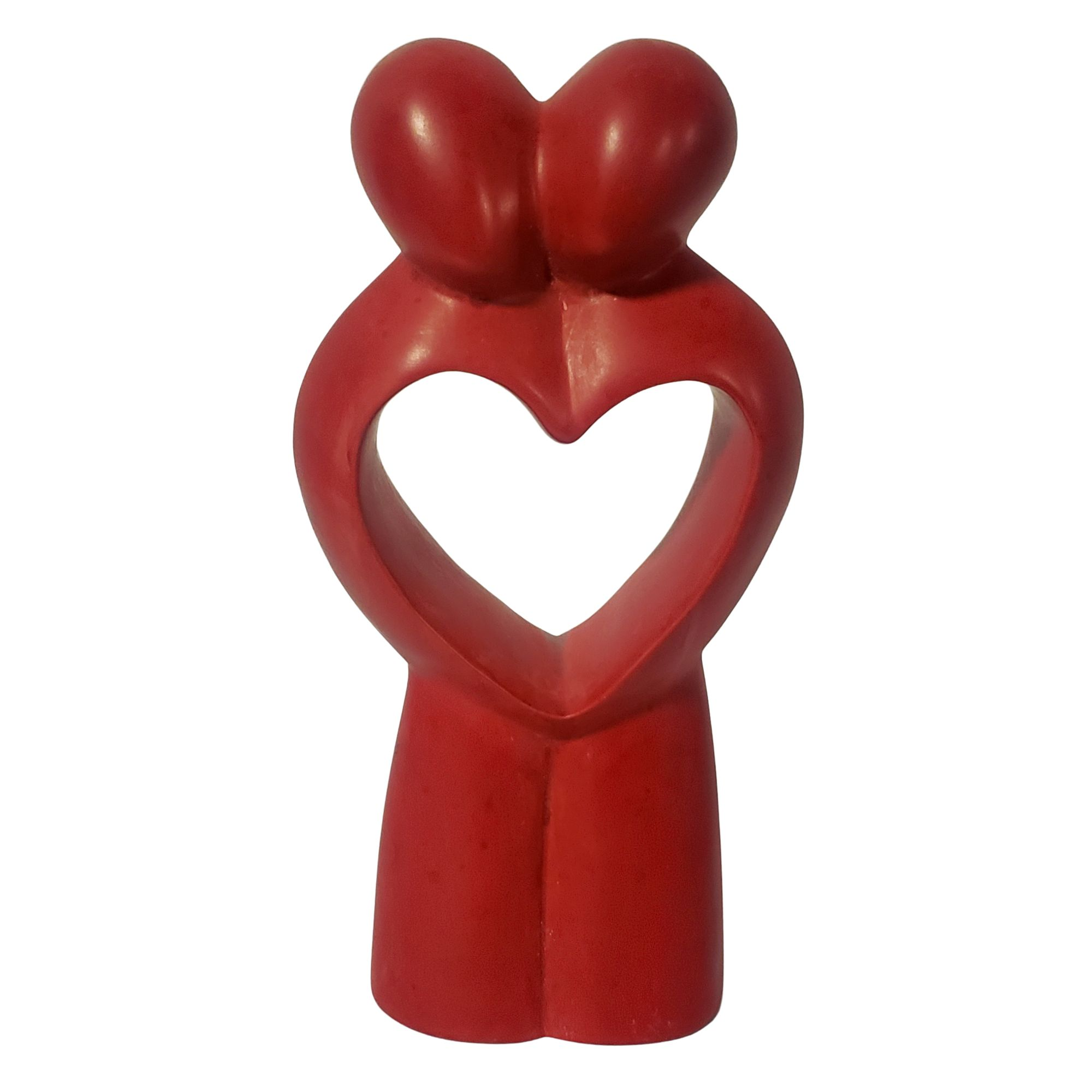 My Forever Love: Authentic Hand Carved African Soapstone Sculpture (Red)