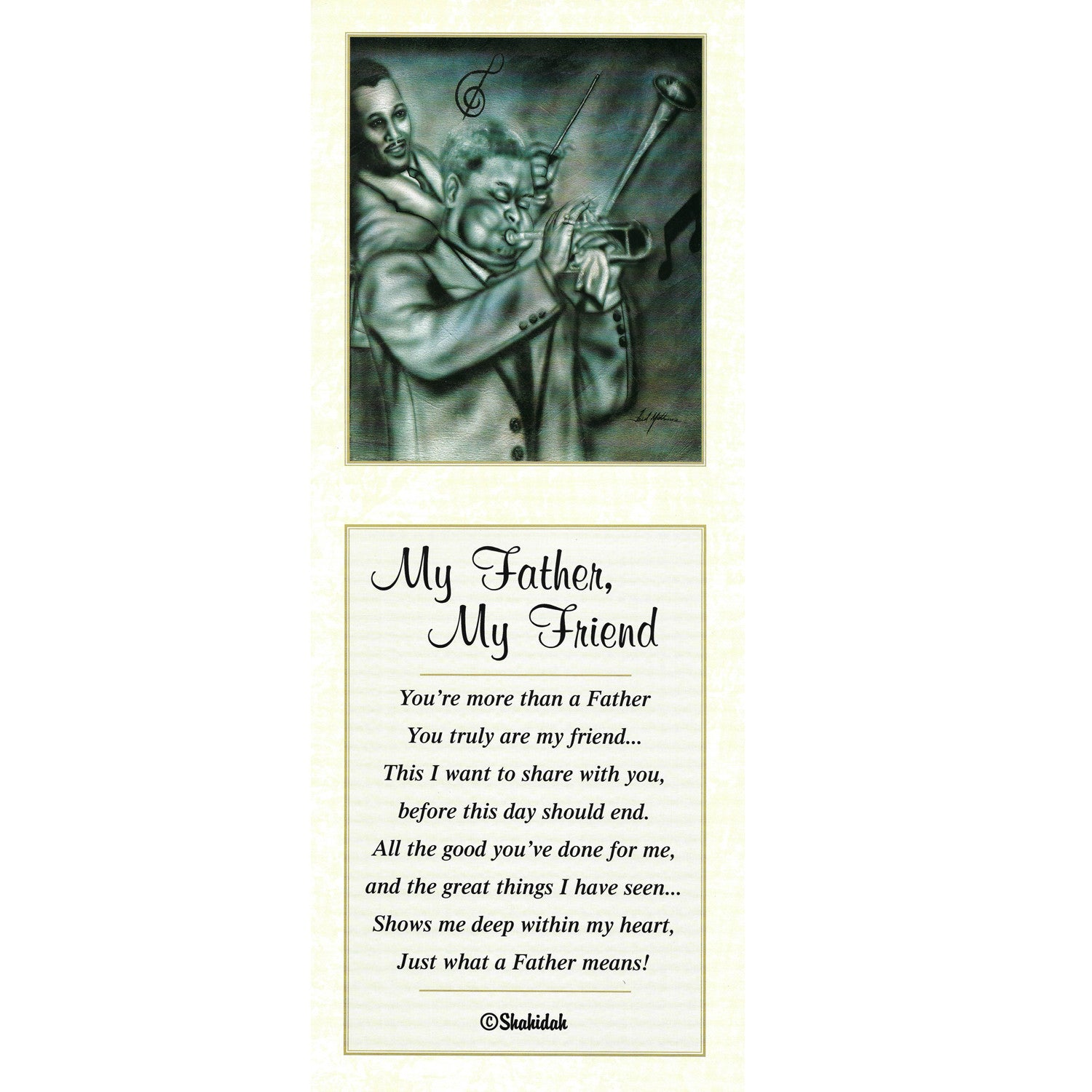 My Father, My Friend by Fred Mathews and Shahidah (Literary Art)