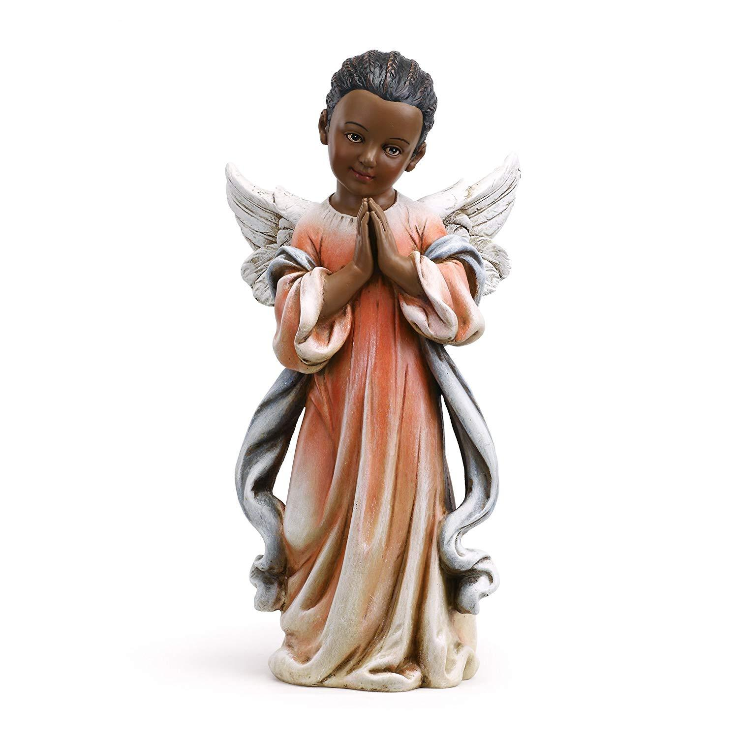 African American Prayer Angel (Female) by Napco Imports