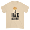 I Am Black Excellence Men's Short Sleeved T-Shirt (Beige)