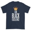 I Am Black Excellence Men's Short Sleeved T-Shirt (Blue)
